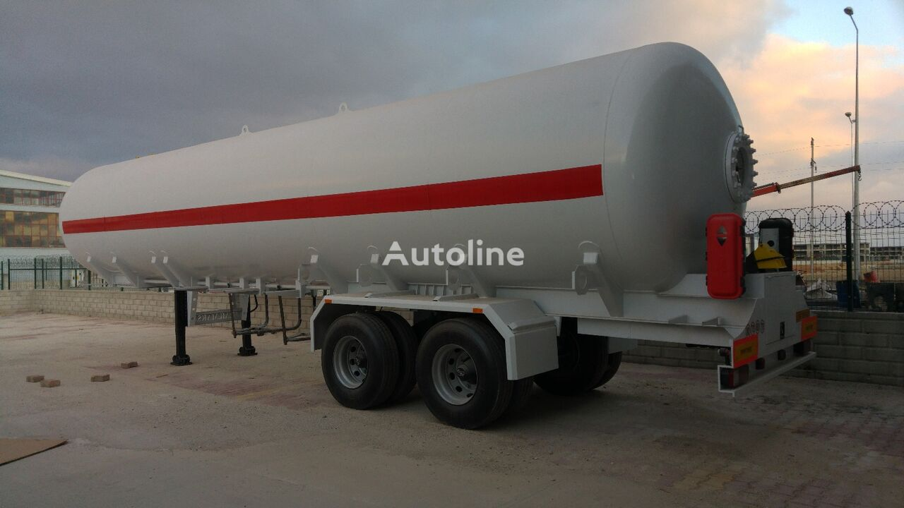 nový cisterna LPG MAS TRAILER TANKER Tandem Axle Double Tire LPG Tanker Semi Trailer From Factory