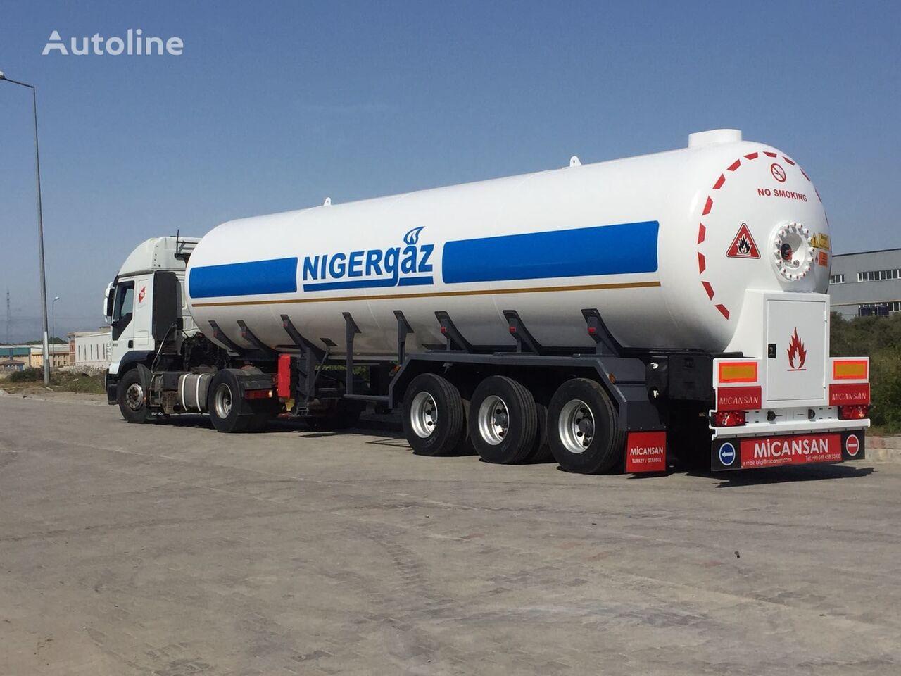 nový cisterna LPG Micansan BIG DISCOUNT 2019 57 M3 SPECIAL 2 AXLE BOGGIE+ 1 AXLE SPRING LEA