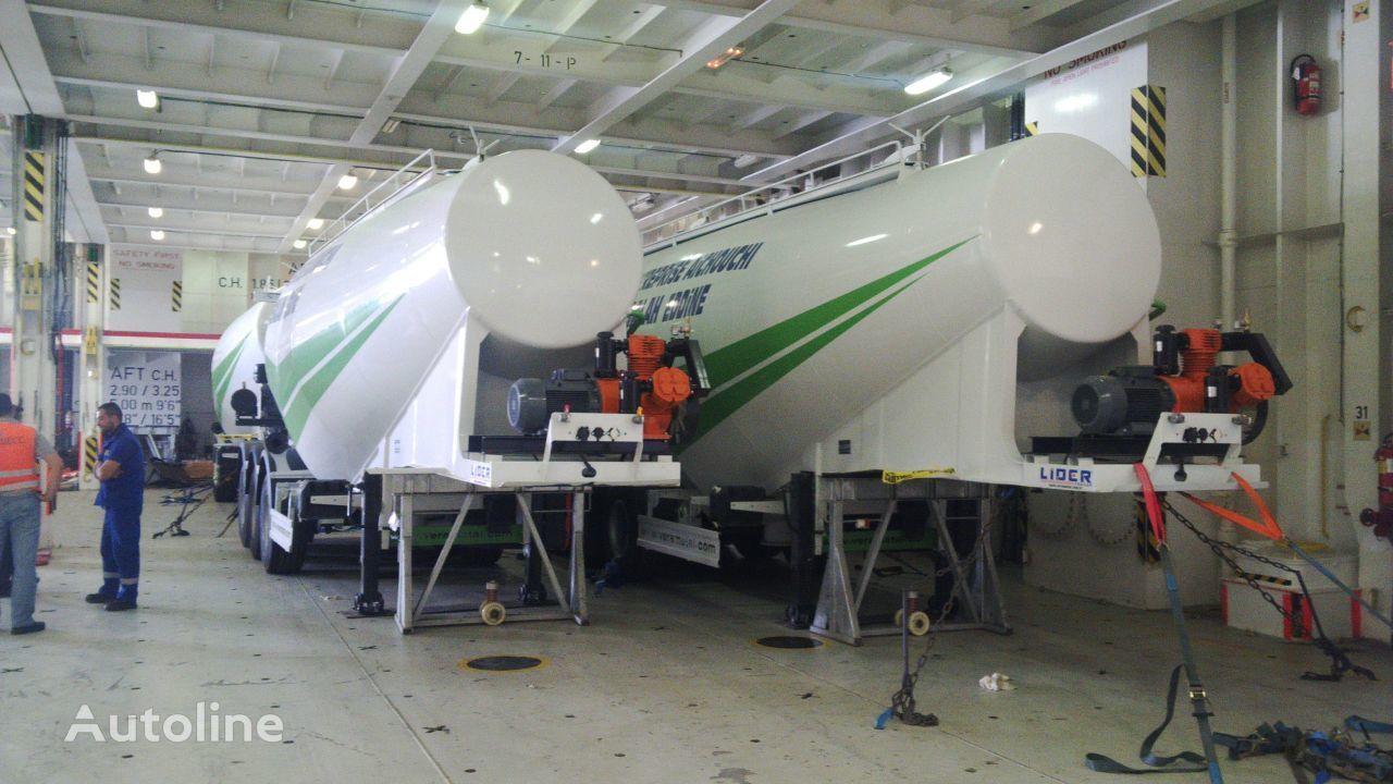 nový cisterna pro přepravu cementu LIDER 2019 MODELS YEAR NEW (MANUFACTURER COMPANY LIDER TRAILER & TANKE