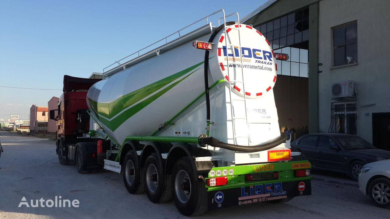 nový cisterna pro přepravu cementu LIDER 2019 year new from manufacturer company Lider Trailer