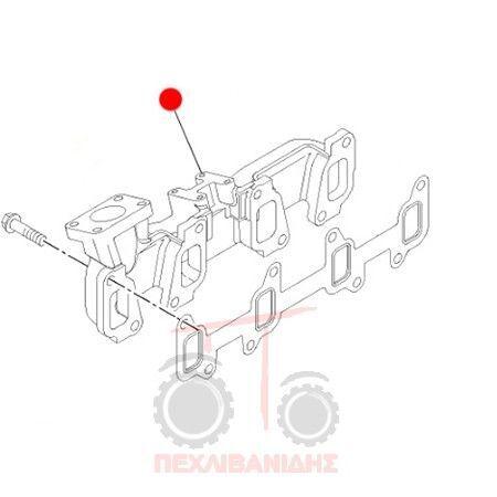 jiné náhradní díly výfukového systému Pollaple Exagoge pro traktoru MASSEY FERGUSON