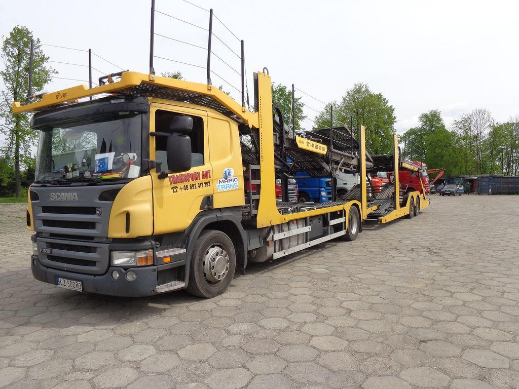 autotransportér SCANIA P 380 AUTOTRANSPORTER, SPECJALNY