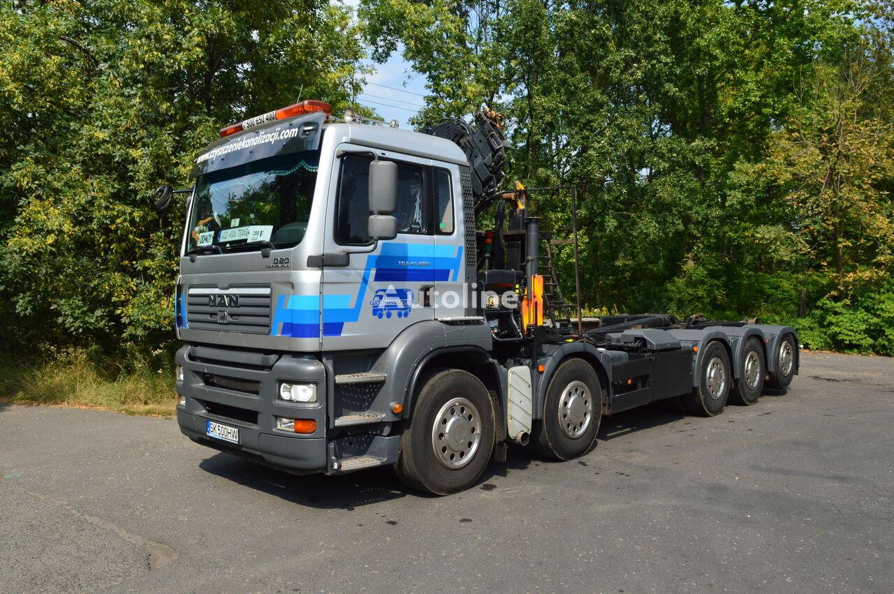 hákový nosič kontejnerů MAN TGA 41.430 10x4 MEILLER 20.70 HIAB XS 166-4 HI PRO DUO