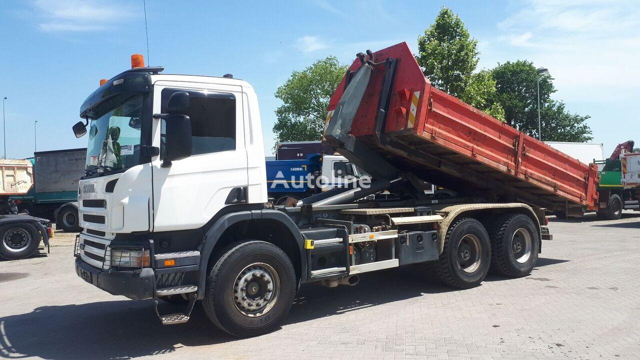 hákový nosič kontejnerů SCANIA P340 6X4 / EU BREIF