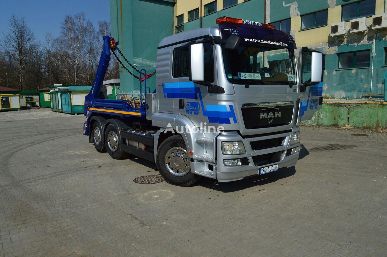 náklaďák ramenový nosič kontejnerů MAN TGS 26.440