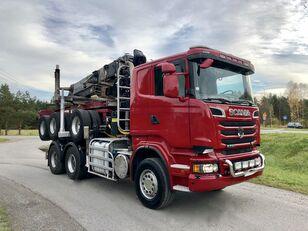 nákladní vozidlo na přepravu dřeva SCANIA R 730 V8 6x4 Dzwig LOGLIFT 251S Do Drewna KOMPLET