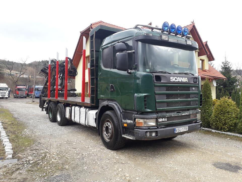 nákladní vozidlo na přepravu dřeva SCANIA 420