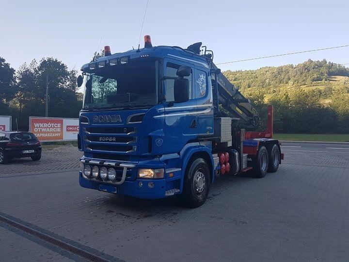 nákladní vozidlo na přepravu dřeva SCANIA R620