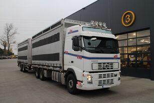 nákladní vozidlo na přepravu zvířat VOLVO FH12.480 CHICKEN TRANSPORTER + přívěs na přepravu zvířat