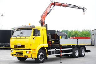 nákladní vozidlo valník KAMAZ 65117 , 6x4 , Crane Fassi 95 , rotator , box 6m