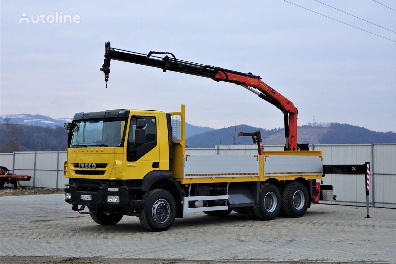 nákladní vozidlo valník IVECO Trakker 360 * Pritsche 6,10m + KRAN/FUNK * 6x4