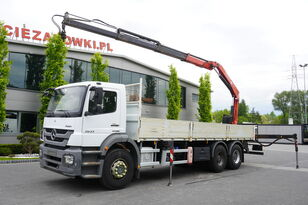 nákladní vozidlo valník MERCEDES-BENZ Axor 2633 , EEV , 6X4 , BOX 7,5m , FASSI 10m / 6.000kg , REMOTE