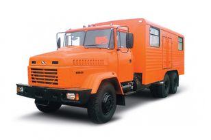 nové vojenské vozidlo KRAZ 65053 мастерская