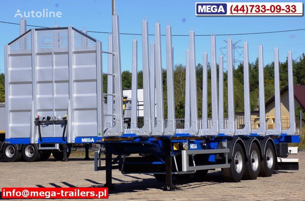 nový návěs na přepravu dřeva MEGA 10 U STANCHION - TIMBER SEMI-TRAILER/HOLZAUFLIEGER- READY ! BERE