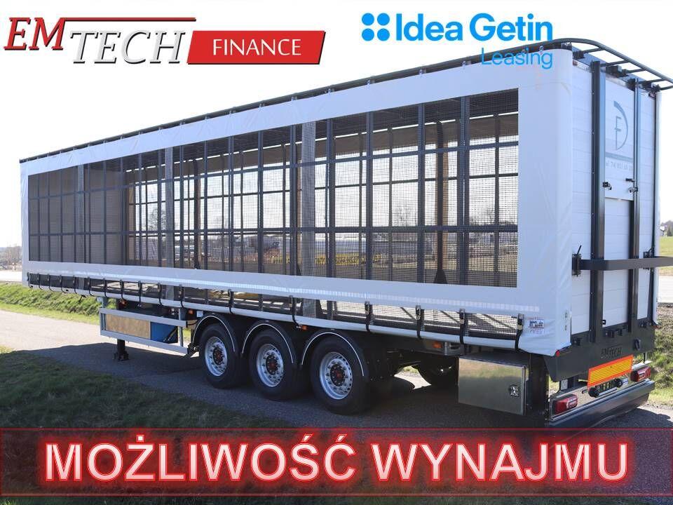 nový návěs pro přepravu drůbeže EMTECH Naczepa do przewozu drobiu 3 osiowa