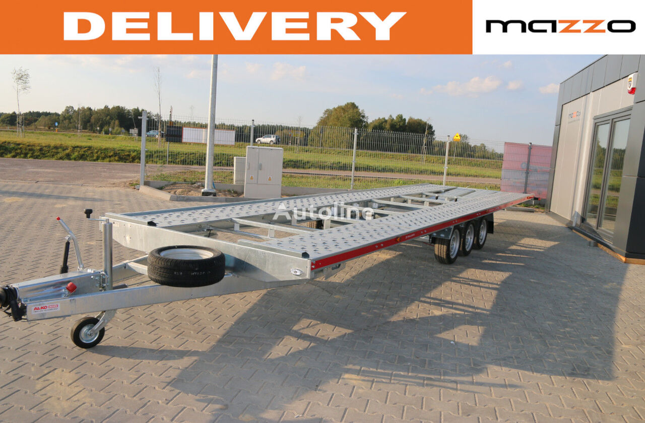nový přívěs autotransportér C8021 two cars trailer 800x210 3500kg