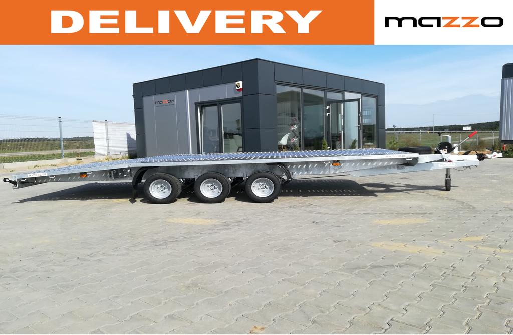 nový přívěs autotransportér J5521 550x210cm 3500kg beaver tail
