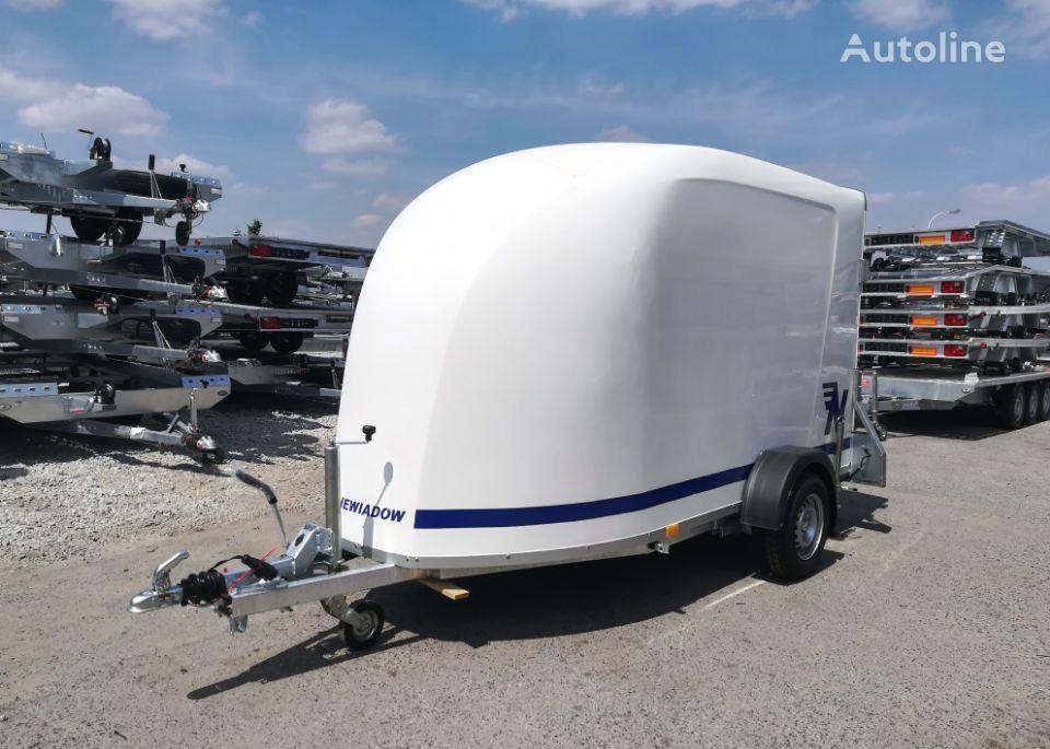 nový přívěs autotransportér NIEWIADOW Furgon F1334 z trapem wjazdowym
