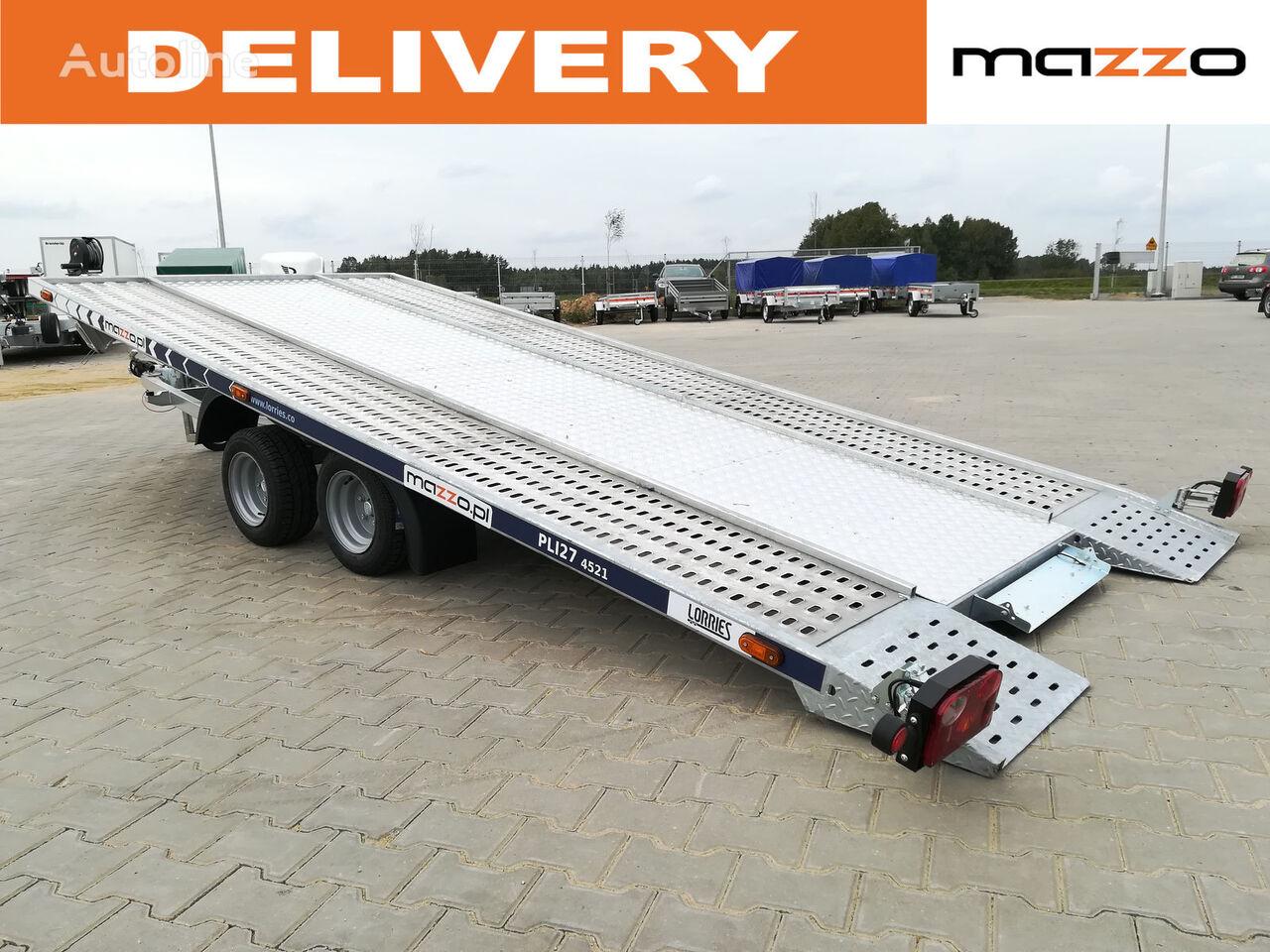 nový přívěs autotransportér PLI27-4521Tilted trailer 2700kg 450x210cm