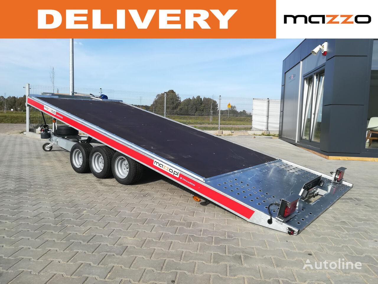 nový přívěs autotransportér TEMA Carkeeper 4820/3P 480x206 tilted trailer