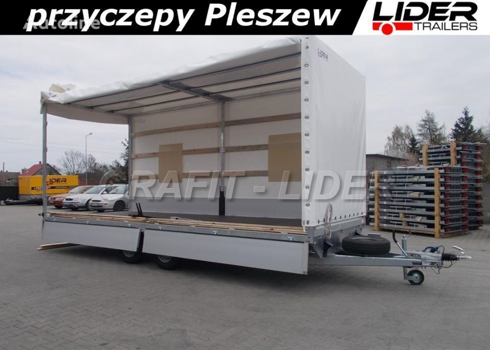 nový přívěs furgon lider-trailers LT-038 przyczepa + plandeka 620x220x260cm, spedyc