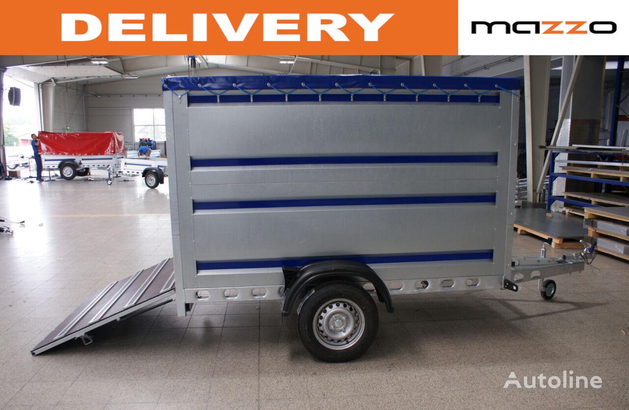 nový přívěs na přepravu zvířat GVW 750kg 242x142x140cm spring-loaded ramp