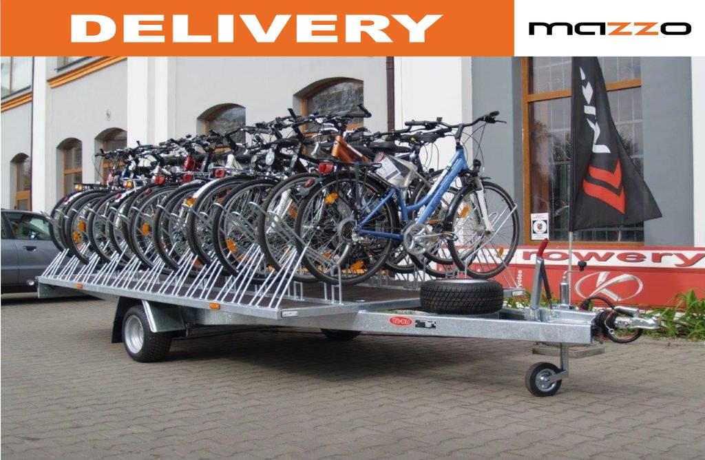 nový přívěs platforma BIKE20 Trailer for 20 bikes GVW 750kg