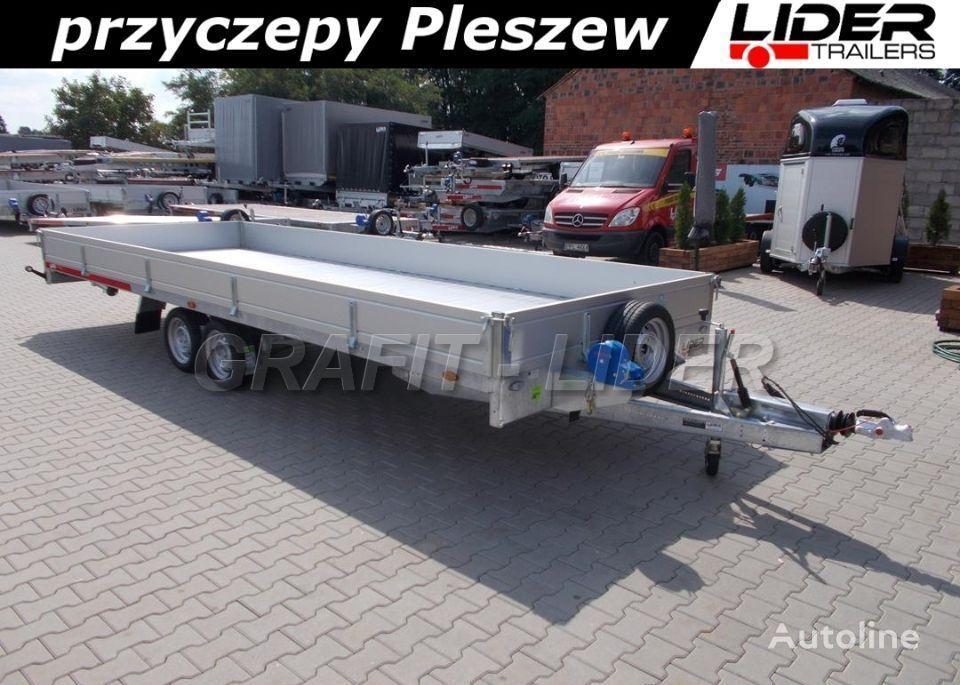 nový přívěs podvalník TEMARED TM-172 przyczepa 588x211x30cm, Carplatform 6021S Alu, laweta, pl