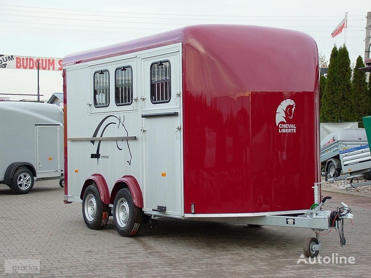 nový přívěs pro přepravu koní Cheval liberte Przyczepa do przewozu trzech koni Przyczepa Aluminiowa model Min