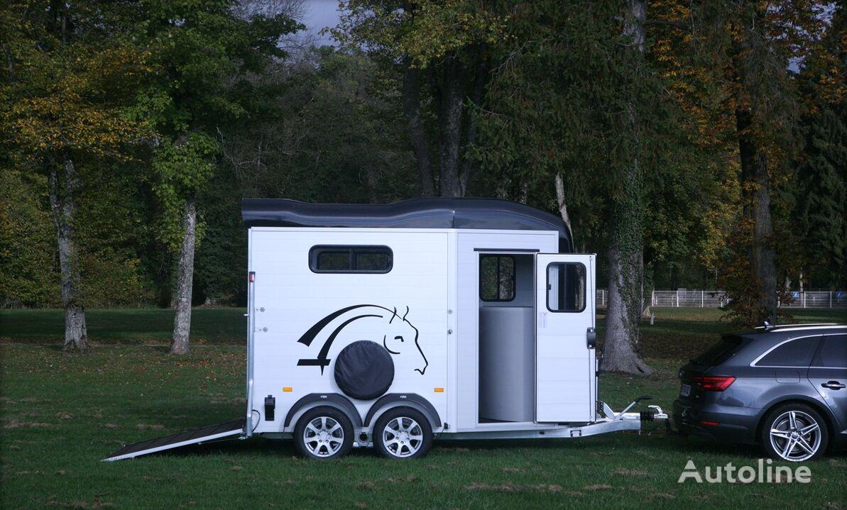 nový přívěs pro přepravu koní Cheval liberte Touring + saddlery two horses trailer