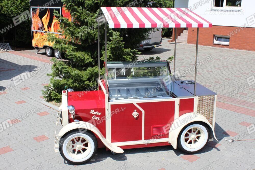 nový přívěs různé BMgrupa stand w stylu retro, stoisko gastronomiczne, catering trailers