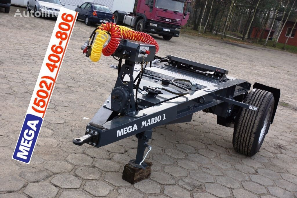 nový přívěs vozík dolly MEGA 1 Achse Dolly fur Kipper / Hydraulik Pumpe / FERTIG