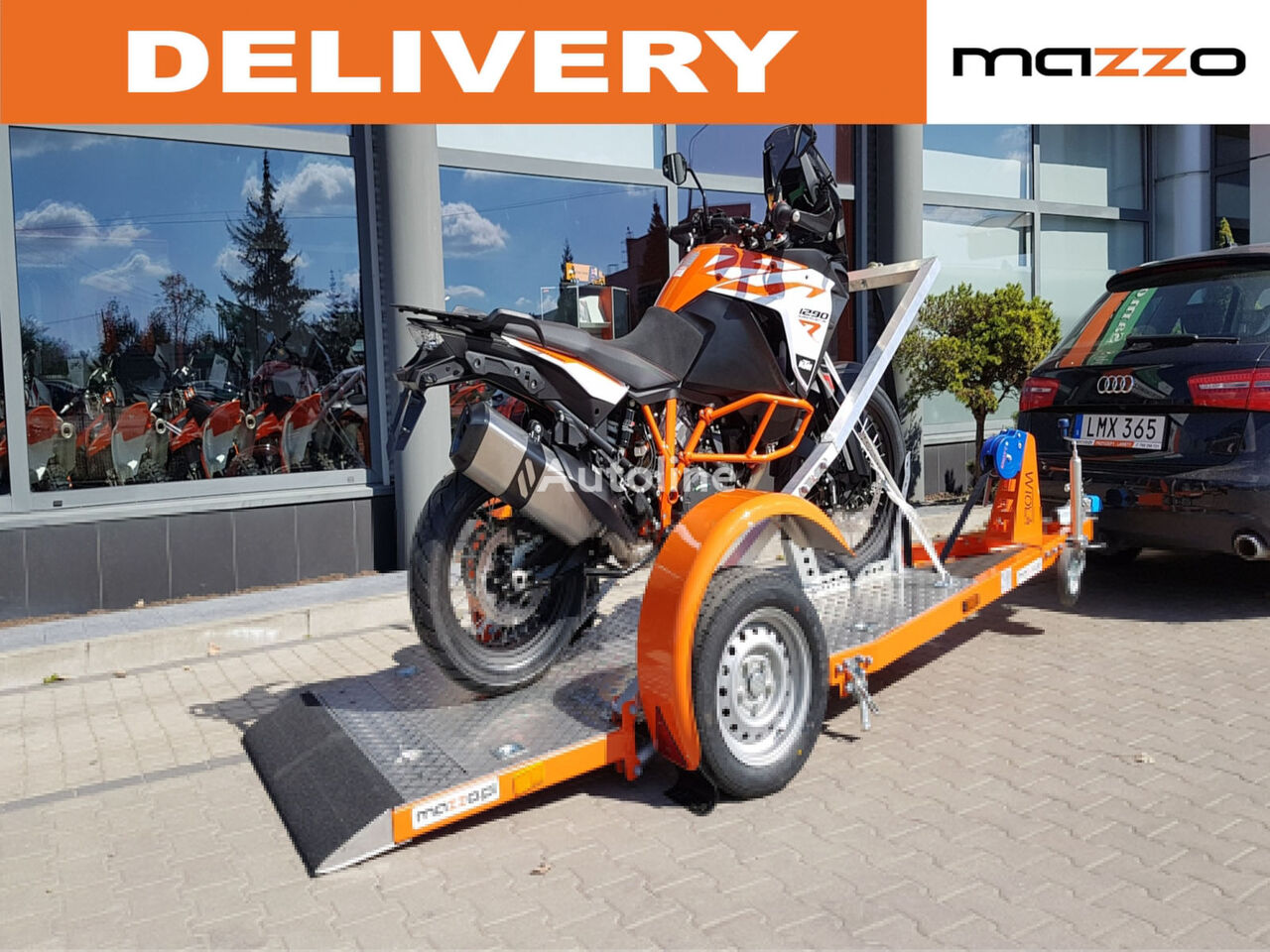 nový vozík za auto ENDURO 1 Motorcycle trailer