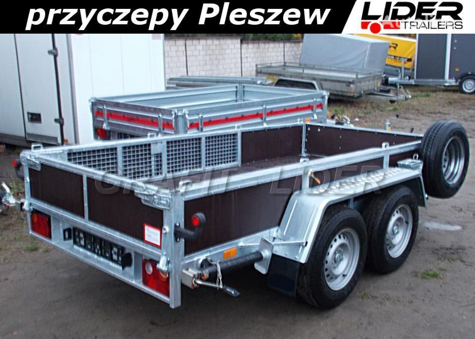 nový vozík za auto lider-trailers ST-018 przyczepa do minikoparki 304x144cm, DMC 27