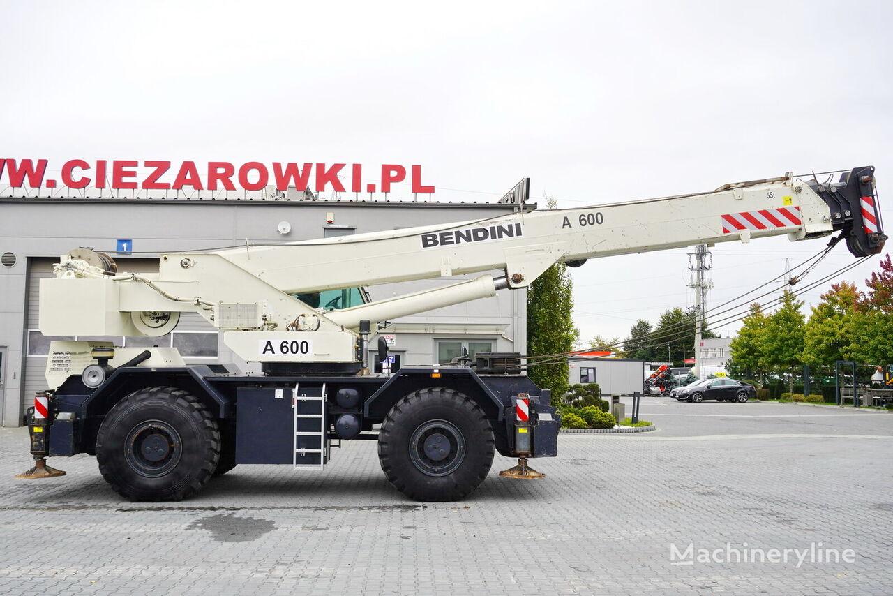 autojeřáb TEREX Bendini A600 , 4x4x4 , 60t max lift , Autoshift