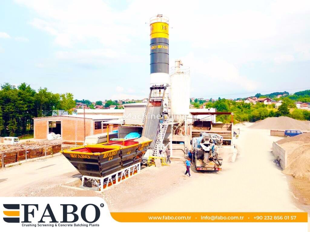 nový betonárna FABO SKIP SYSTEM CONCRETE BATCHING PLANT | 60m3/h Capacity