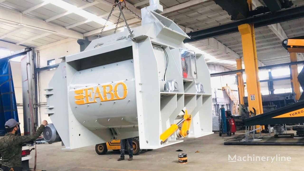 nový betonárna FABO TWIN SHAFT MIXER IS READY