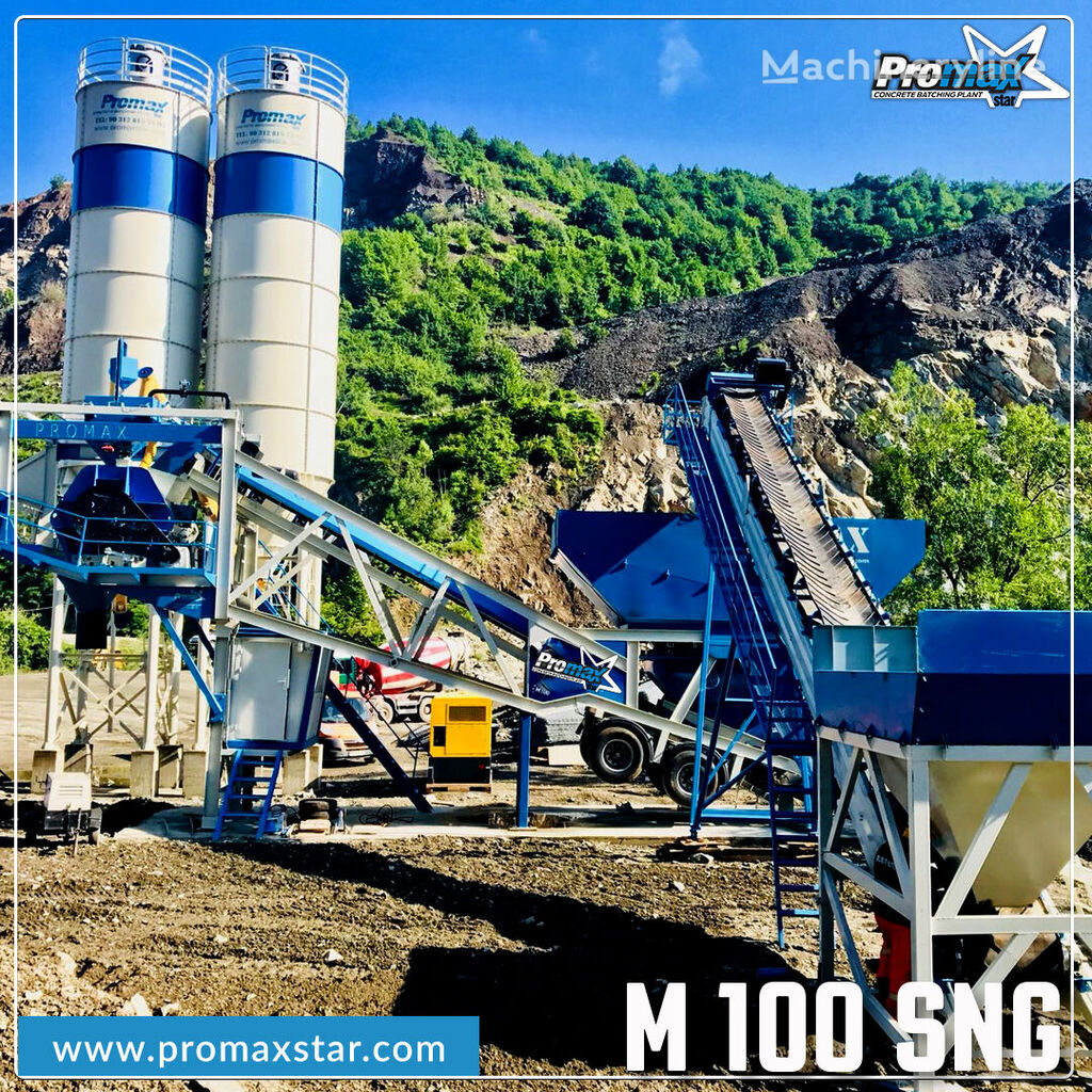 nový betonárna PROMAX MOBILE CONCRETE BATCHING PLANT M100-SNG Single Shaft