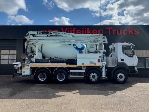 čerpadlo betonu RENAULT KERAX 430 DXI - 8X4 SCHWING 21 METERS PUMP MIXER - EURO 5 - EEV