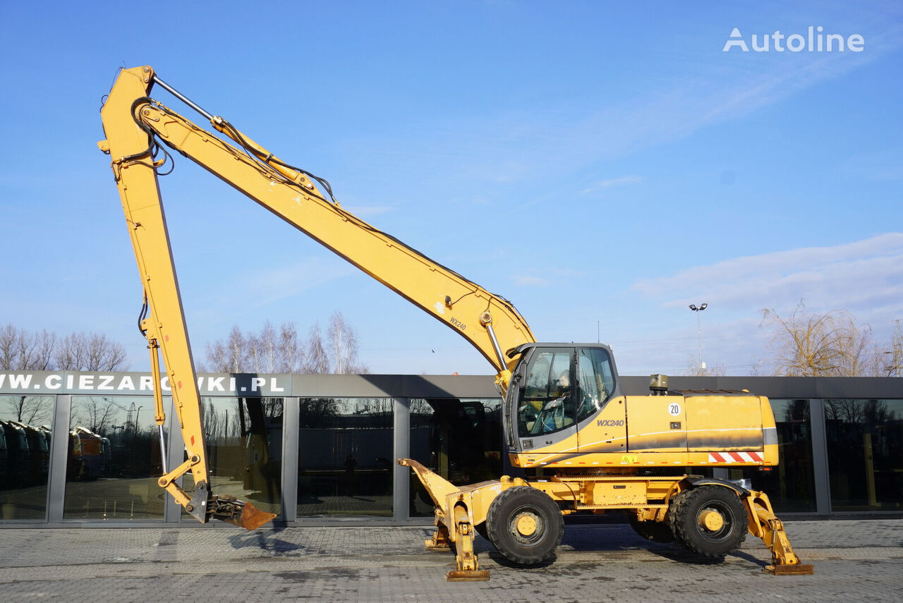 kolové rypadlo CASE WX240 , 23t , LONG REACH 16m , 4k MTH , hydraulic bucket , joyst
