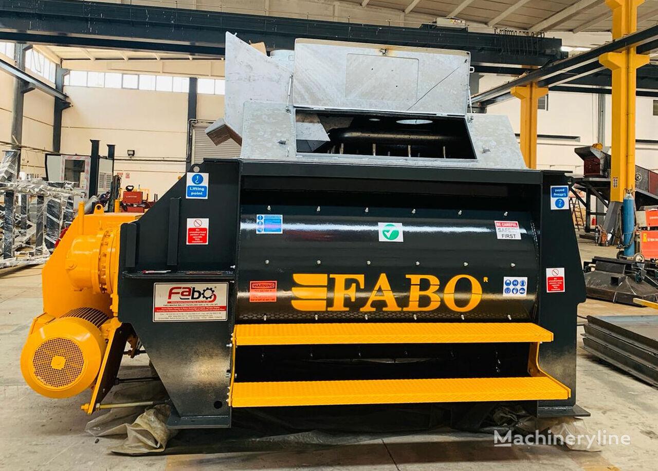 nový míchačka na beton FABO TWS 02 TWINSHAFT MIXER FOR READYMIXTURE | HIGH CAPACITY