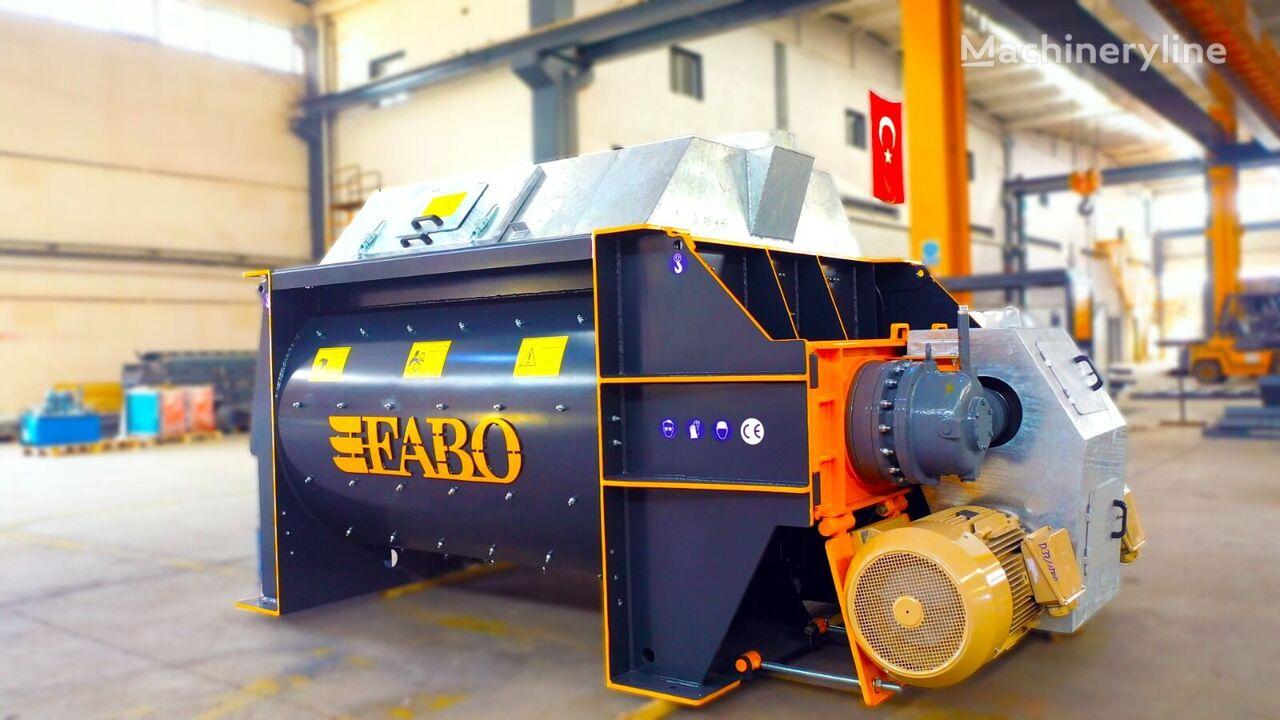 nový míchačka na beton FABO TWS 02 TWINSHAFT MIXER FOR READYMIXTURE   HIGH CAPACITY