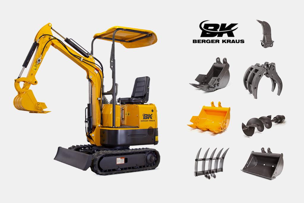 nový minibagr BERGER KRAUS BK800A + Wyposażenie pełne FULL EQUIPMENT