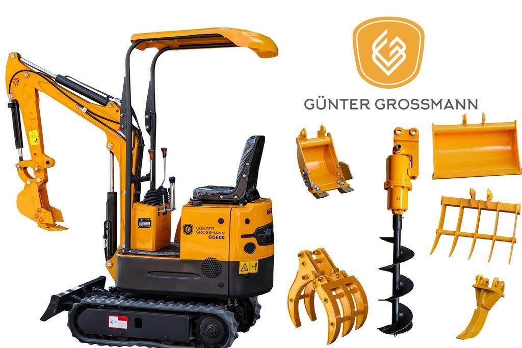 nový minibagr Günter Grossmann GG800 Minikoparka + Akcesoria - Mini koparka